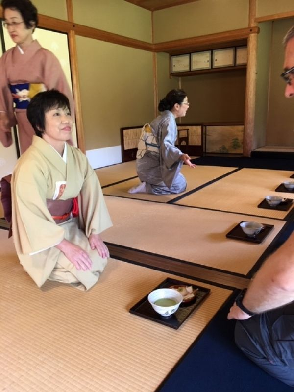 Experience of a tea ceremony is available at Kokoen Japanese Garden in Himeji