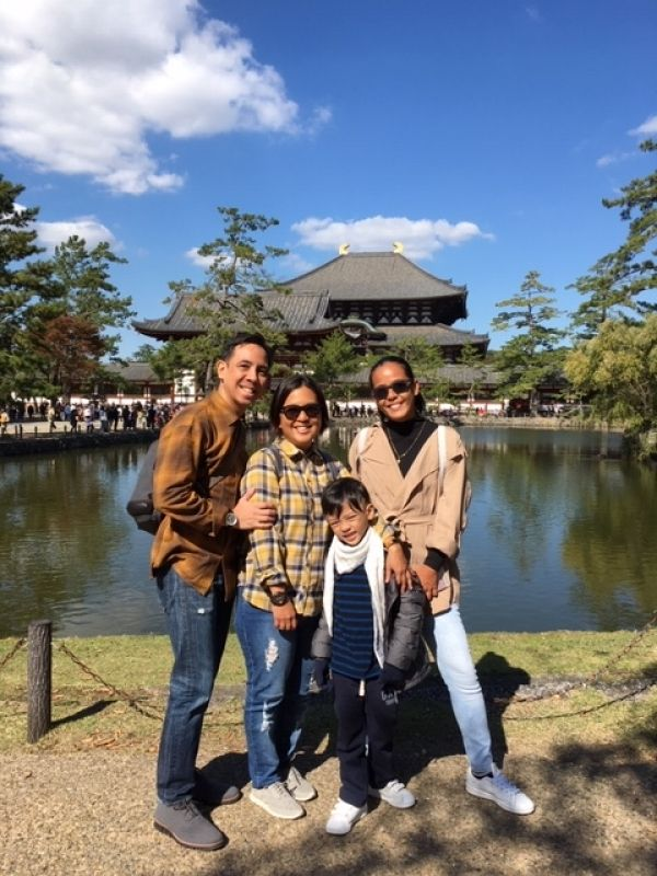 Youngest-ever future movie star & his lovely family in Nara
