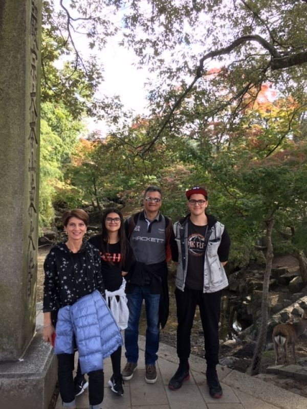 Lovely family photo in Nara Park