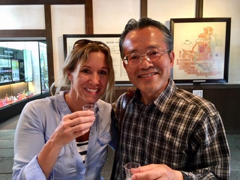 How about sake tasting at a traditional Fushimi sake brewery?