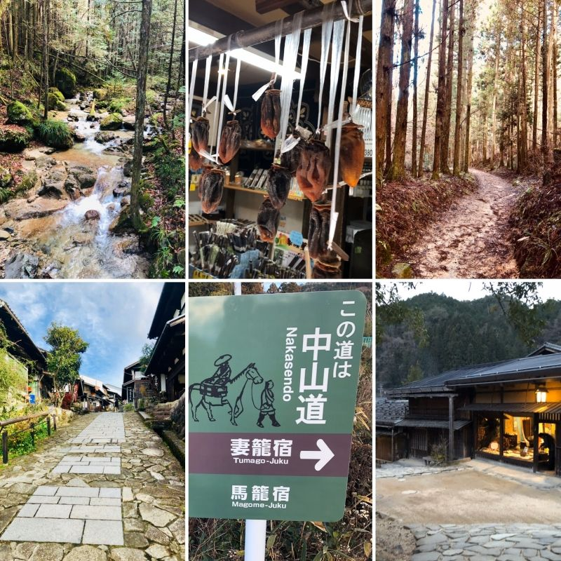 NAKASENDO route has 69 stations (staging-posts) along approx 534 km.