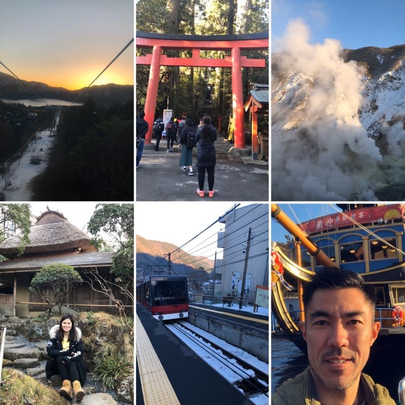 Beautiful views and different ways to get to HAKONE!!