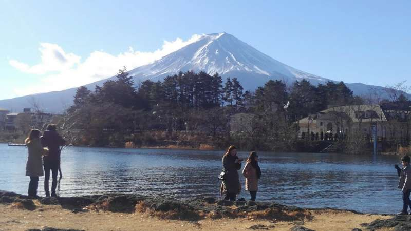 Mt.Fuji and Lake kawaguchi.