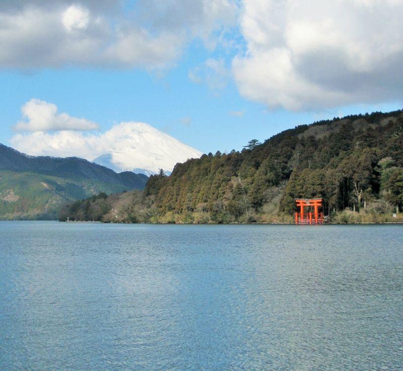 Lake Ashi in Hakone near Mt. Fuji