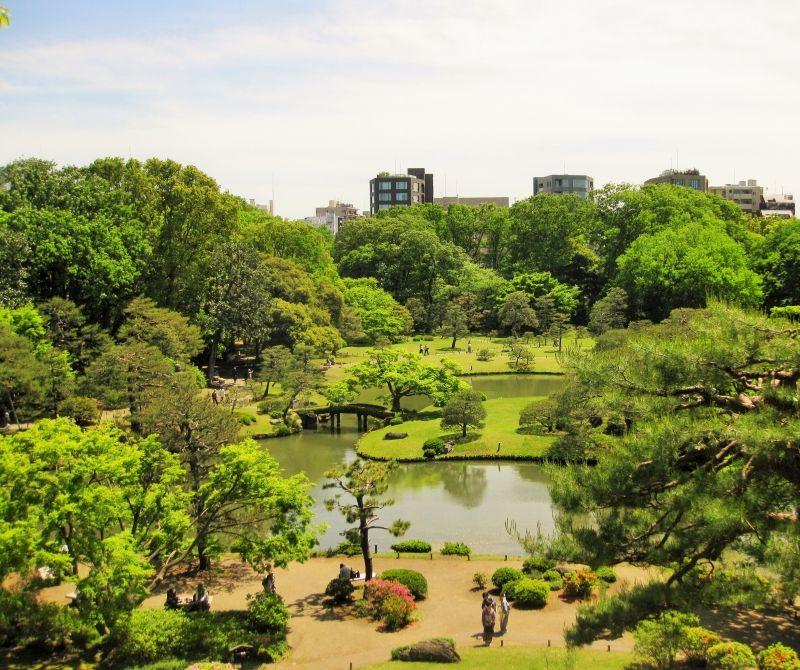 Rikugien Japanese garden in Tokyo