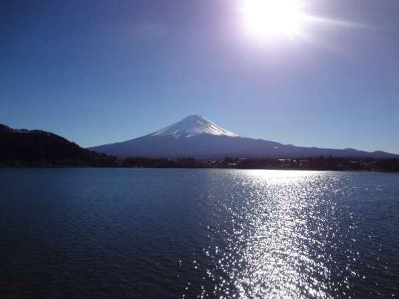 Mt. Fuji from Lake Kawaguchi in winter