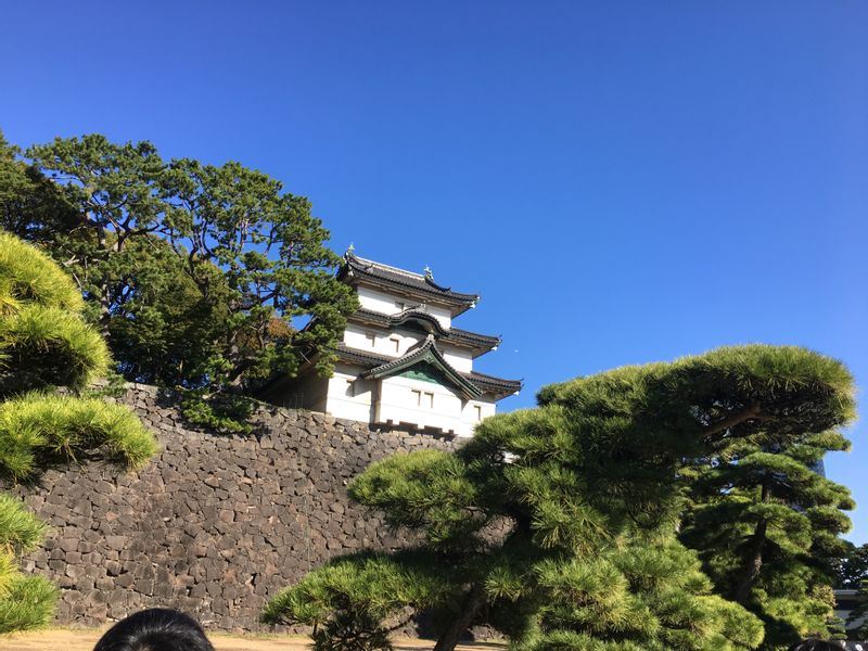 Fujimi-yagura, a castle keep of Edo castle at the Imperial Palace compound.
