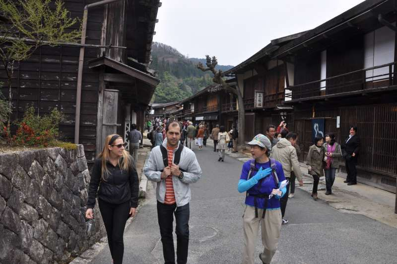 Walking around in Tsumago, an old post town along an old Kiso road.