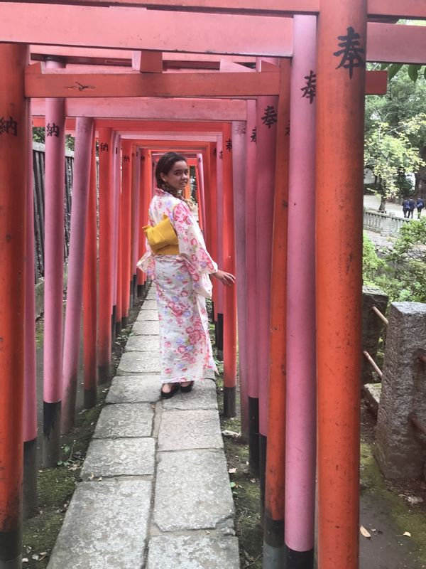 At a Shrine. Dressing Yukata service for girls is free. Please ask me if interested.