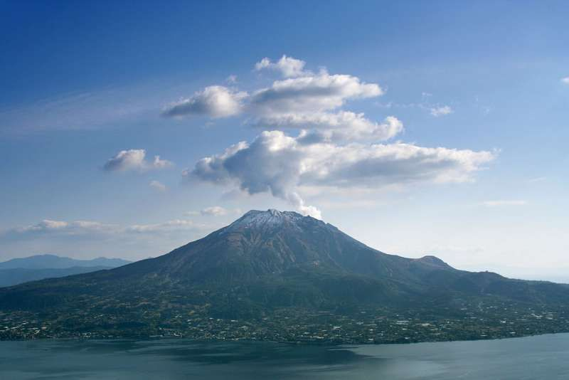Mt Sakurajima is one of the four major active volcano in Japan.