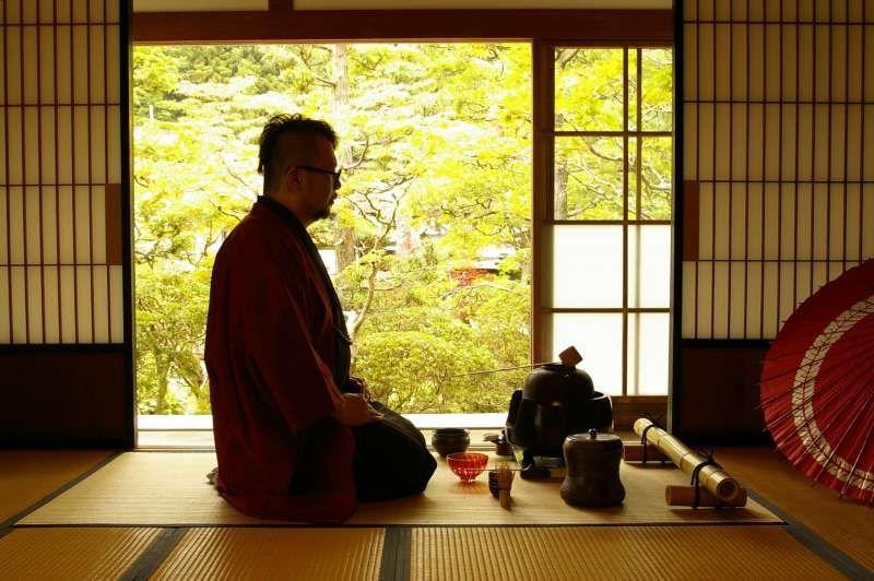 Tea ceremony at the temple in Koyasan