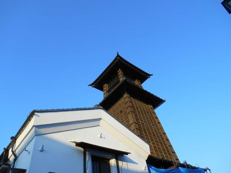 Bell tower from 17th century in Kawagoe