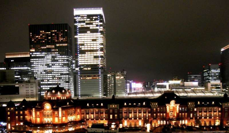 Tokyo Station in the evening