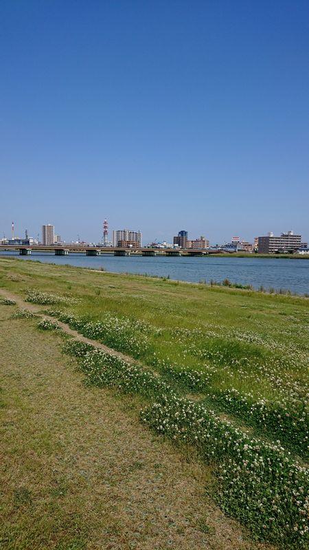 Shinano Riverbank view