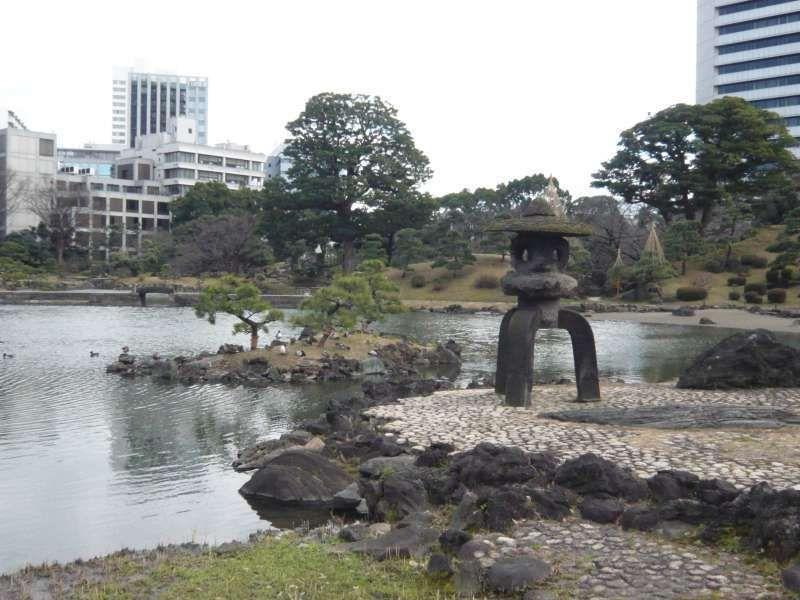 A typical Japanese garden.
