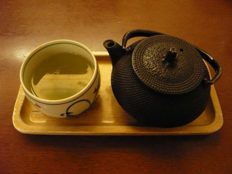 Japanese tea. At cafe, you will relax .