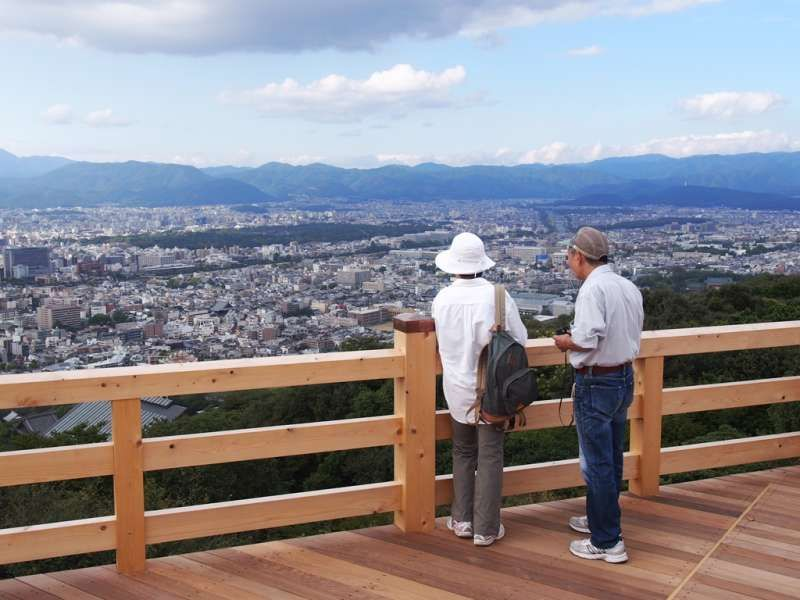 200m above the ground you can enjoy breathtaking view of kyoto city!