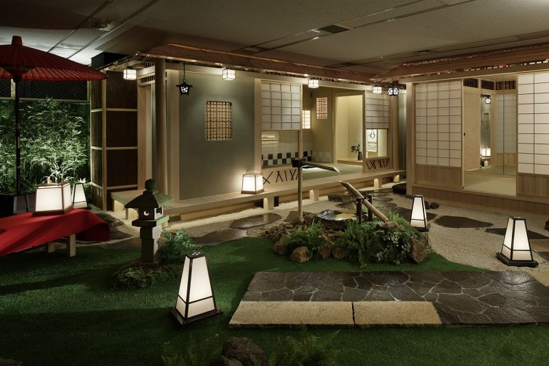 The Store was Designed to Resemble Traditional Japanese Garden with Tatami Rooms.