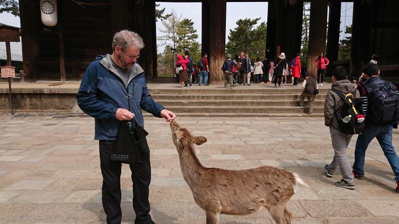 Nice man with a deer