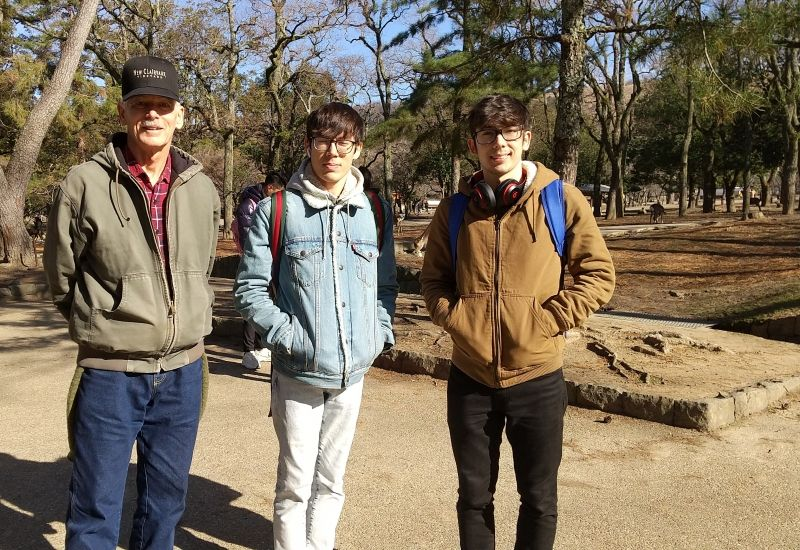 Nice men in Nara Park