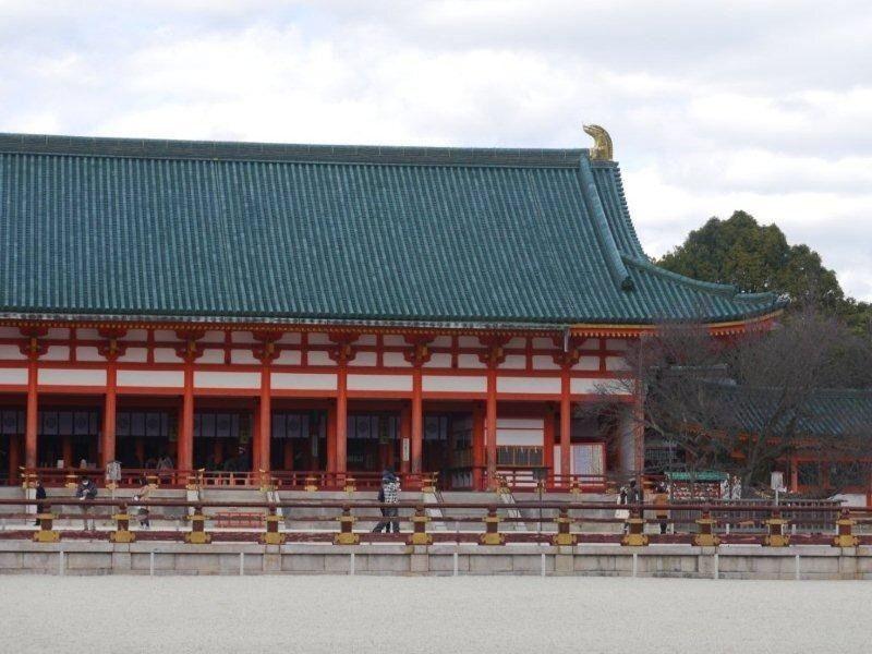 Heian Shrine: Daigoku-den(Shrine sanctuary)/Heian Schrein: Daigoku-den(Schrein Heiligtum)