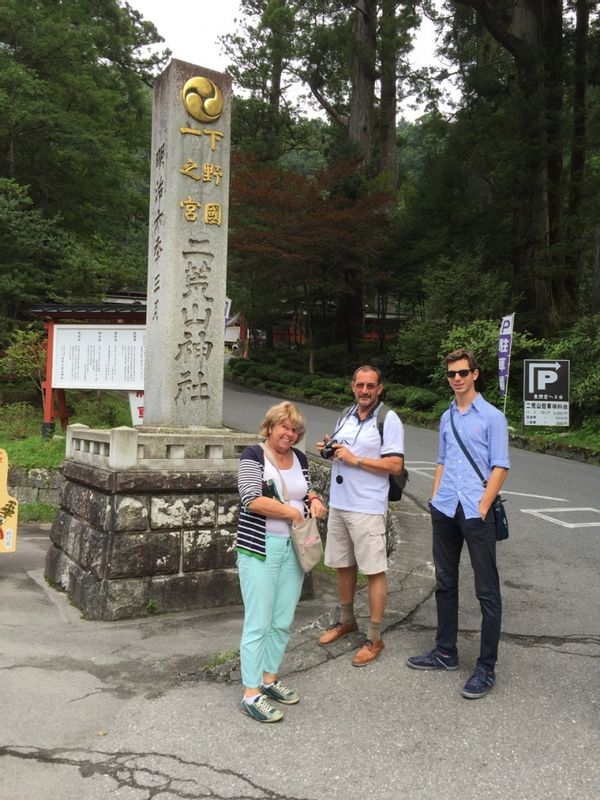A family I guided at Nikko