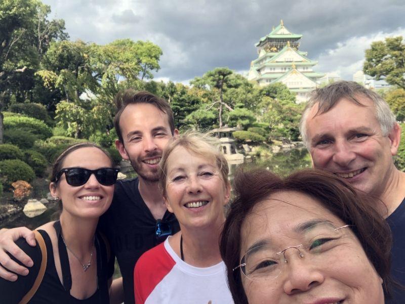 at Osaka castle