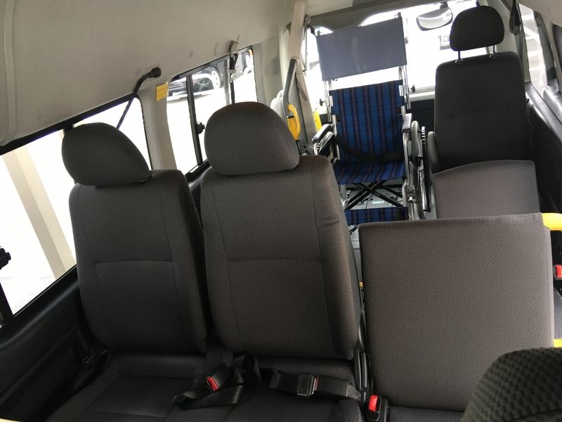 It is a back seat of the car.