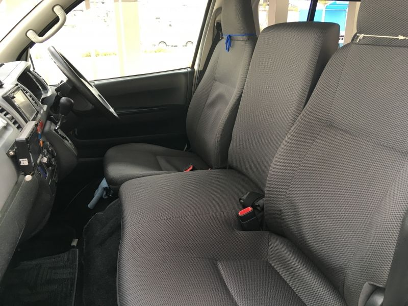 It is the front seat of the car.