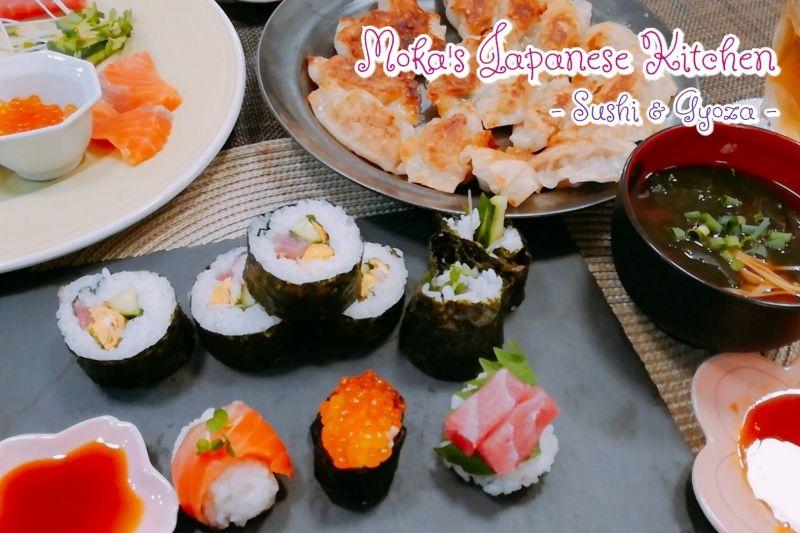 Moka's Japanese Kitchen at my place! Choice of Sushi&Gyoza, Takoyaki, Shabu-shabu Hotpot course!