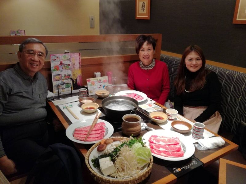 Shabu-shabu boiling Japanese beef lunch with my guests from Australia!!