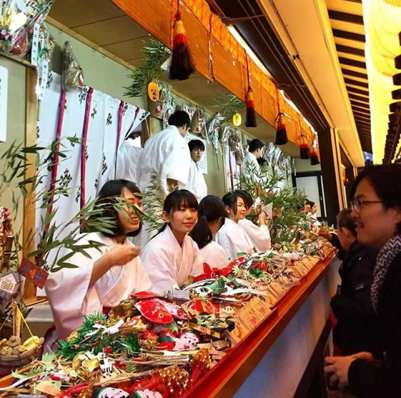 Ebisu festival is a very lively festival which thousands of people come every year in hopes of good luck