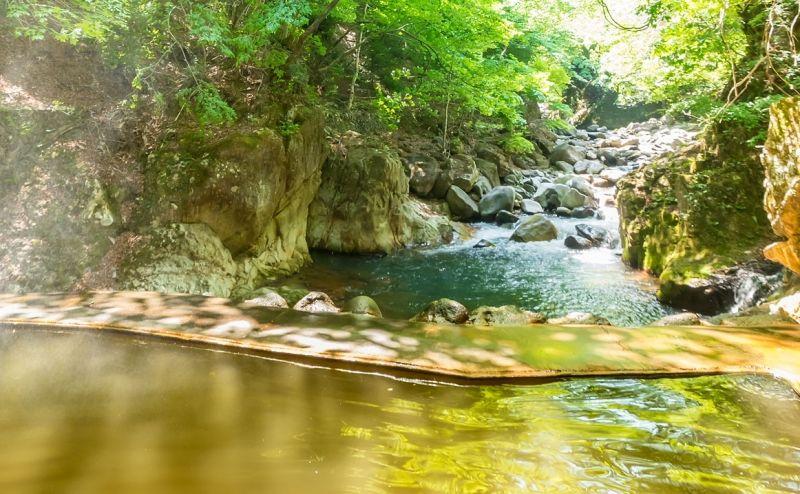 opem air hot spring