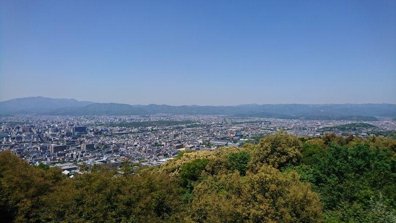View of Kyoto city from Shorenin-monzeki temple, Shogun-zuka Seiryuden