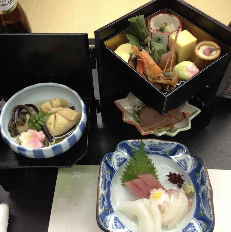 Kaiseki _ traditional multi-course Japanese dinner.