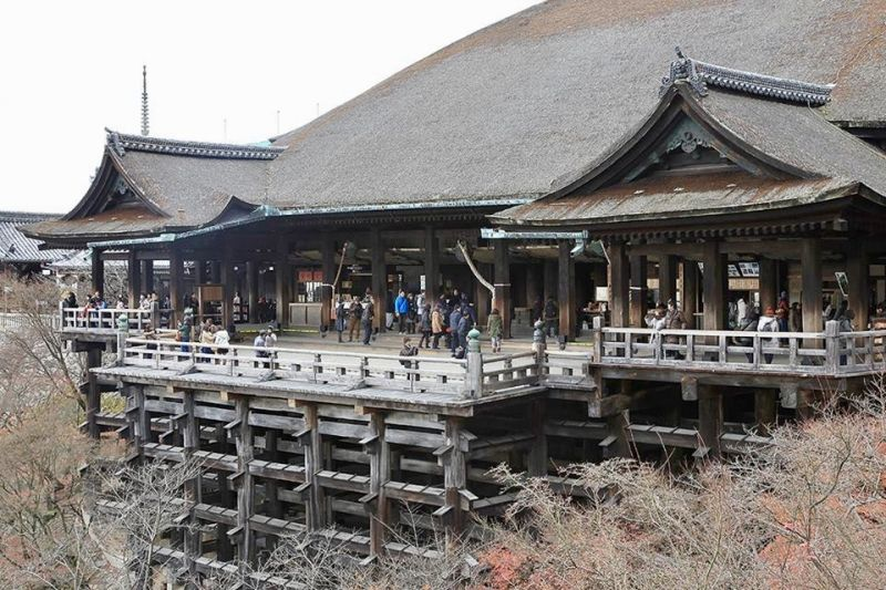 Kiyomizu temple. it is one of the most famous temples in Kyoto.