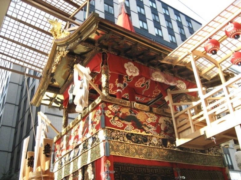 The Gion Festival Float. It's observed annually from July 1 through 31 in Kyoto.