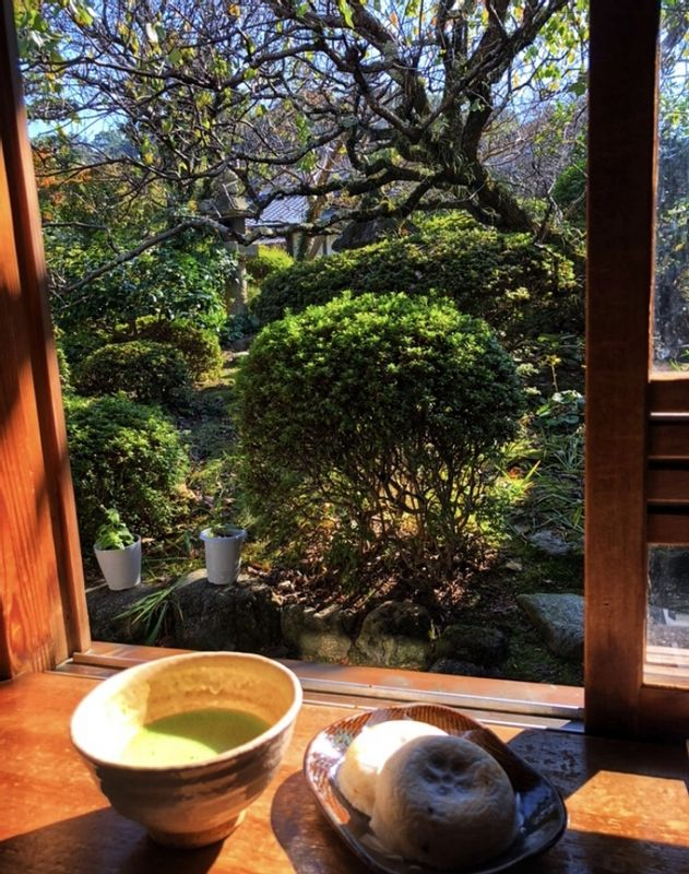 Sweets and Green Tea in Dazaifu.