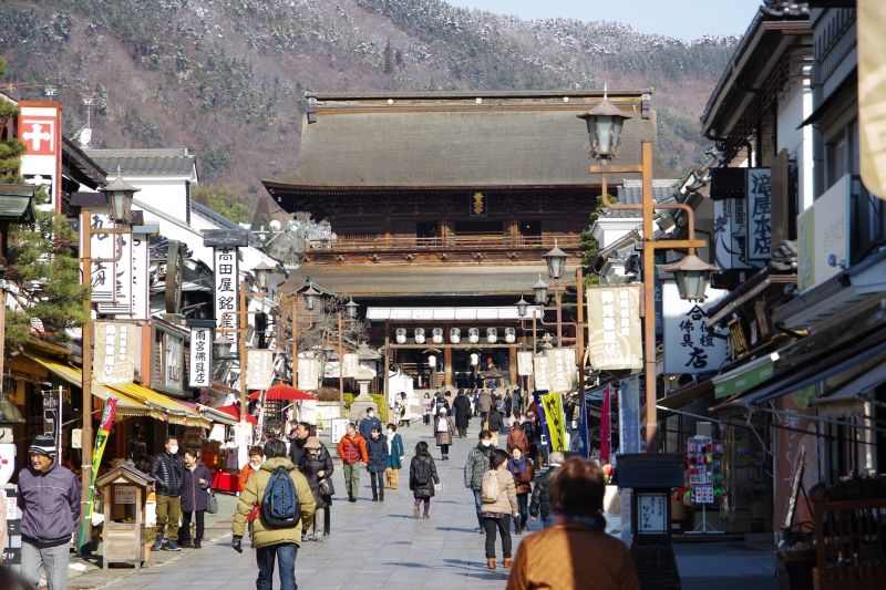 Zenkoji Temple, one of the most famous and important Buddhism temple in Japan.