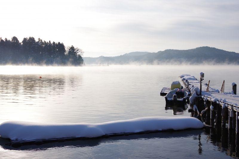 National Park Lake Nojiri.