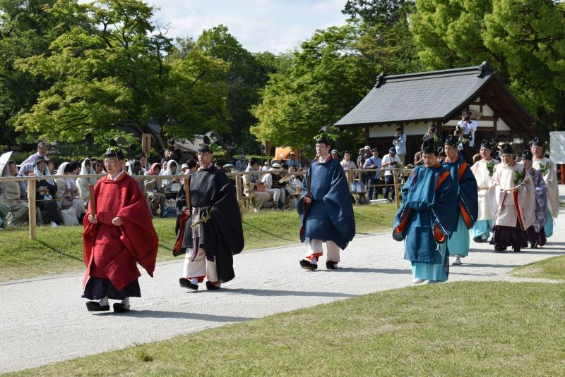 Santuario Kamigamo en el festival Aoi.