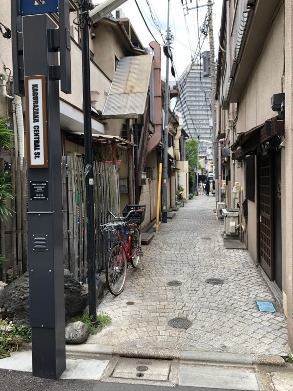 Kagurazaka district in Tokyo. Many attractive side streets.
