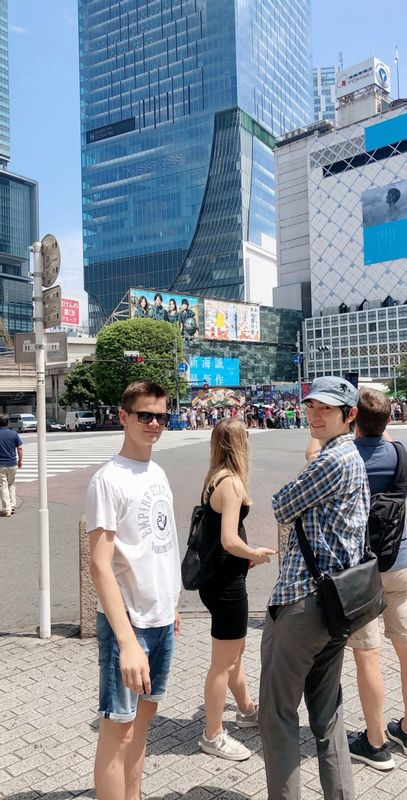 At Shibuya Crossing, the Busiest Intersection in the World