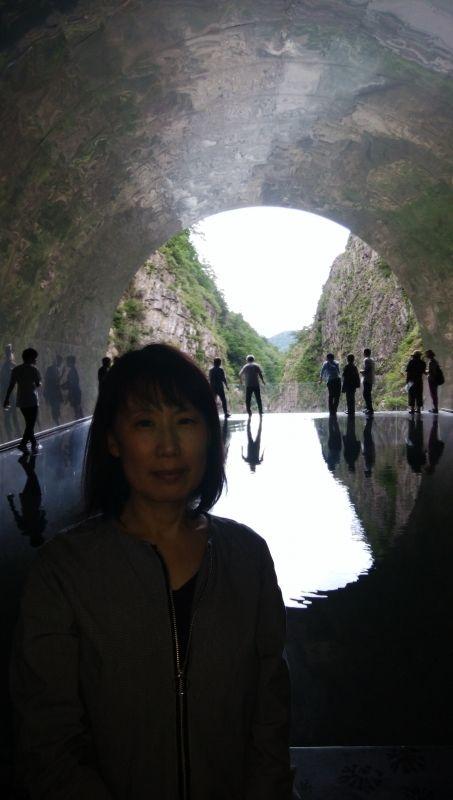 Echigo-Tsumari Art Triennale  Kiyotsu gorge in Nakazato Tokamachi,  light cave