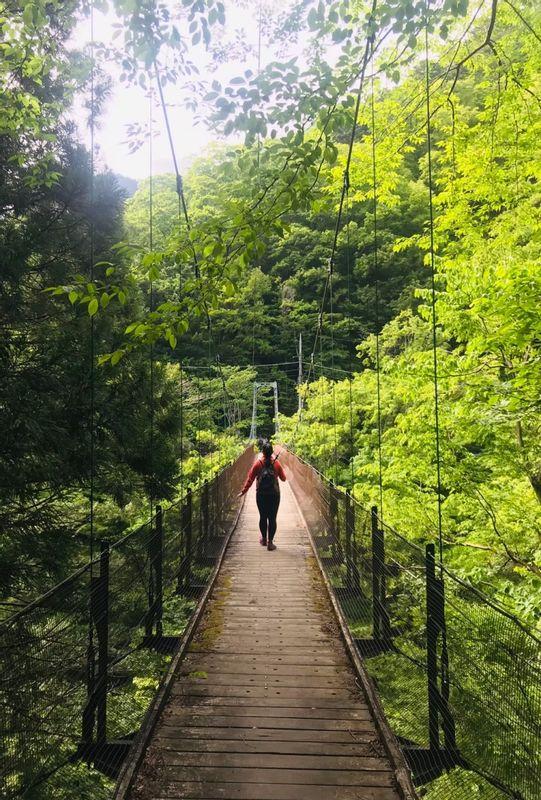 A bridge in Okutama, Tokyo.