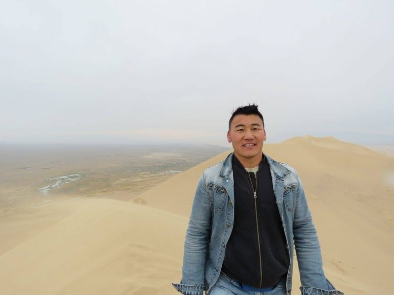 One of the biggest sand dune in Asia...  see the mountain created by sands.