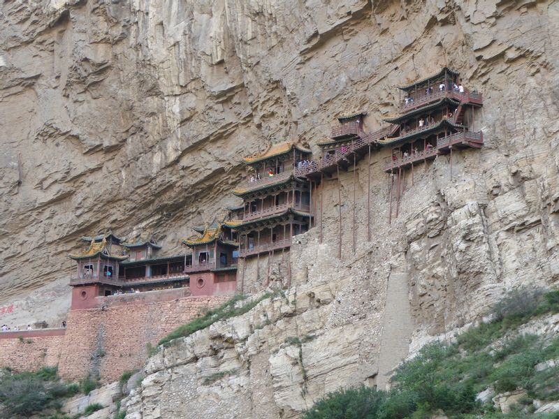 XuanKong Temple, the temple built into the cliff.