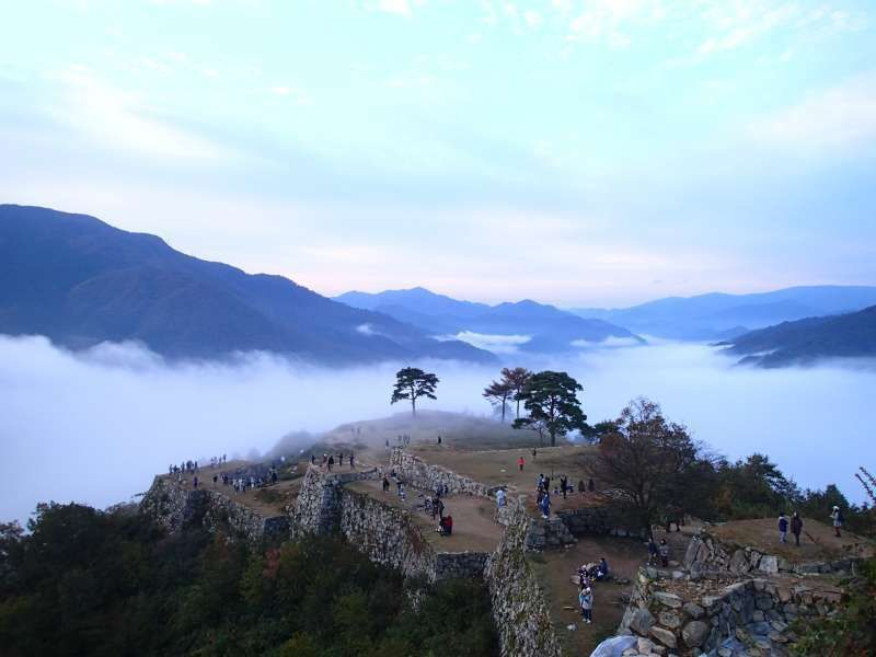 Takeda castle & cloud sea