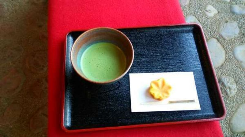 Matcha with  Japanese confectionery - I love them.