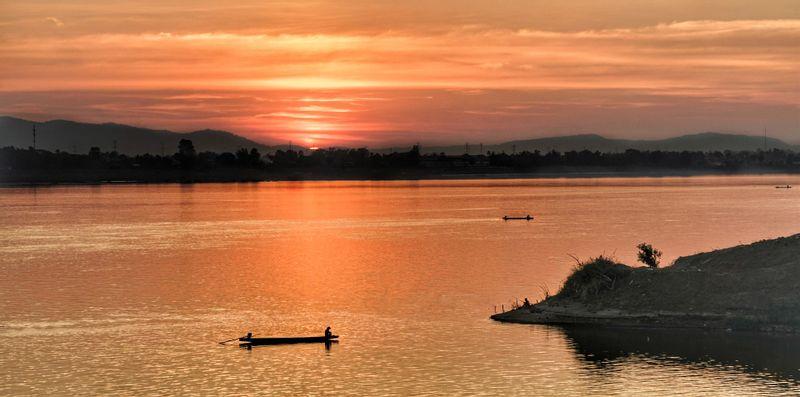 Sunset at Mekong River